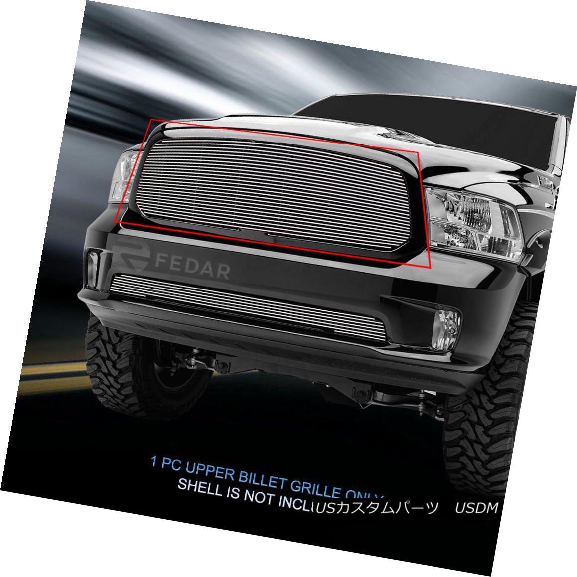 グリル Fits 2013-2017 Dodge Ram 1500 Billet Grille Main Upper Grill Insert Fedar 2013-2017 Dodge Ram 1500ビレットグリルメインアッパーグリルインサートFedar
