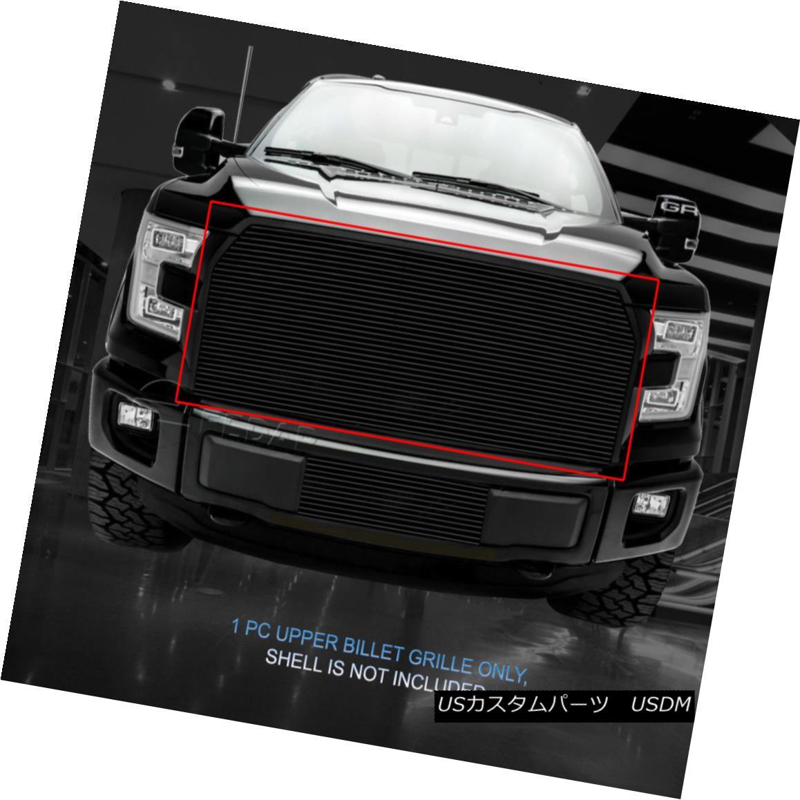 グリル Fedar Fits 2015-2017 Ford F-150 Black Overlay Main Upper Billet Grille Insert Fedarフィット2015-2017フォードF-150ブラックオーバーレイメインアッパービレットグリルインサート
