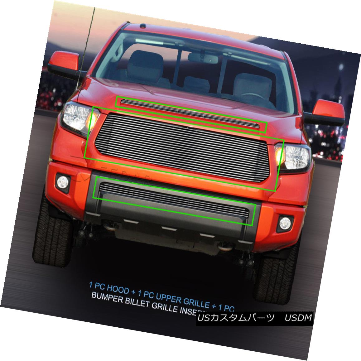 グリル 2014-2016 Toyota Tundra Billet Grille Grill Combo Insert 3 Pcs Fedar 2014-2016トヨタトンドラビレットグリルグリルコンボインサート3個入りFedar