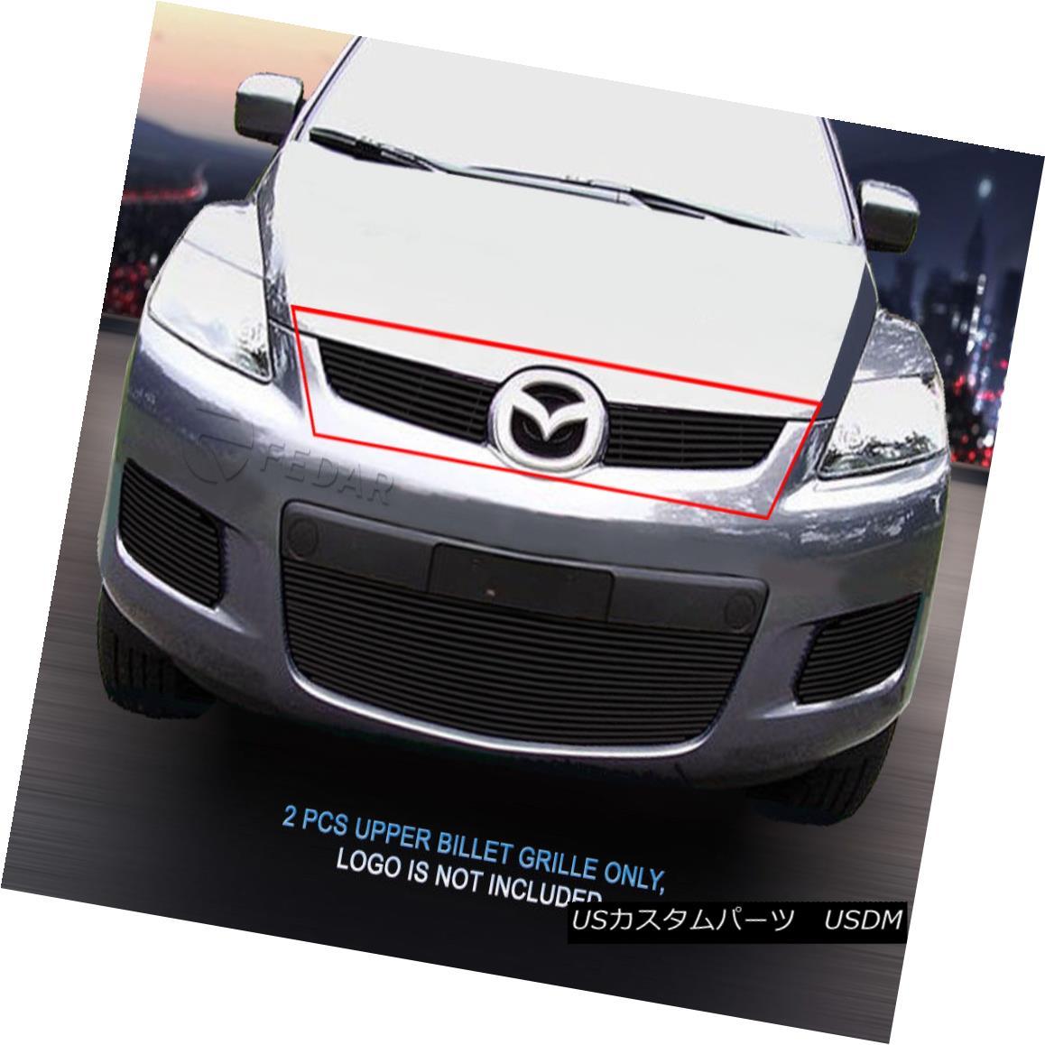 グリル 07-09 Mazda CX-7 Black Billet Grille Upper Grill Insert Fedar 07-09マツダCX-7ブラックビレットグリルアッパーグリルインサートフェルダ
