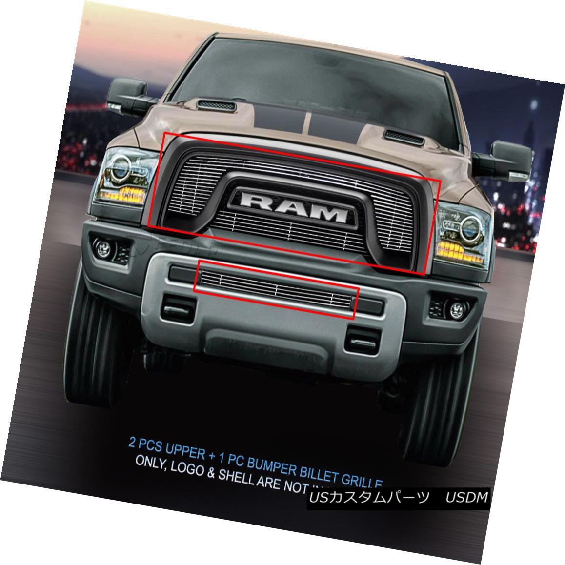 グリル Fedar Fits 2015-2017 Dodge RAM Rebel 1500 Polished Billet Grille Insert Fedarフィット2015-2017ドッジRAM Rebel 1500ポリッシュビレットグリルインサート