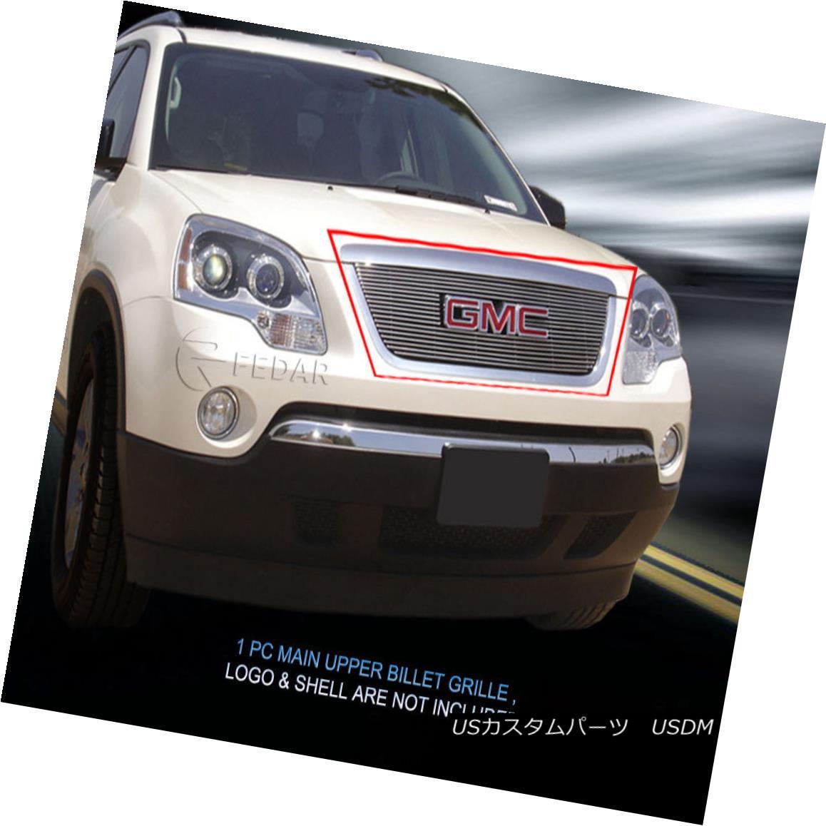 グリル Fedar Fits 2007-2012 GMC Acadia Polished Main Upper Billet Grille Fedar Fits 2007-2012 GMC Acadiaポリッシュメインアッパービレットグリル