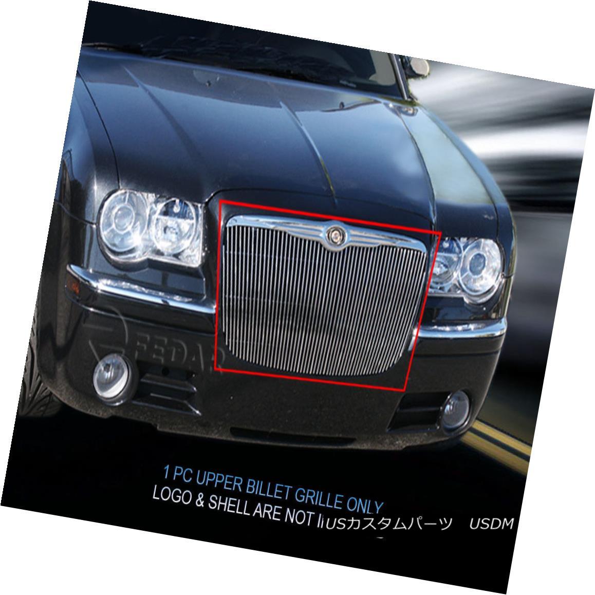 グリル For 05-10 Chrysler 300C Billet Grille Upper Grill Vertical Insert Fedar 05-10クライスラー300Cビレットグリルアッパーグリル垂直インサートFedar