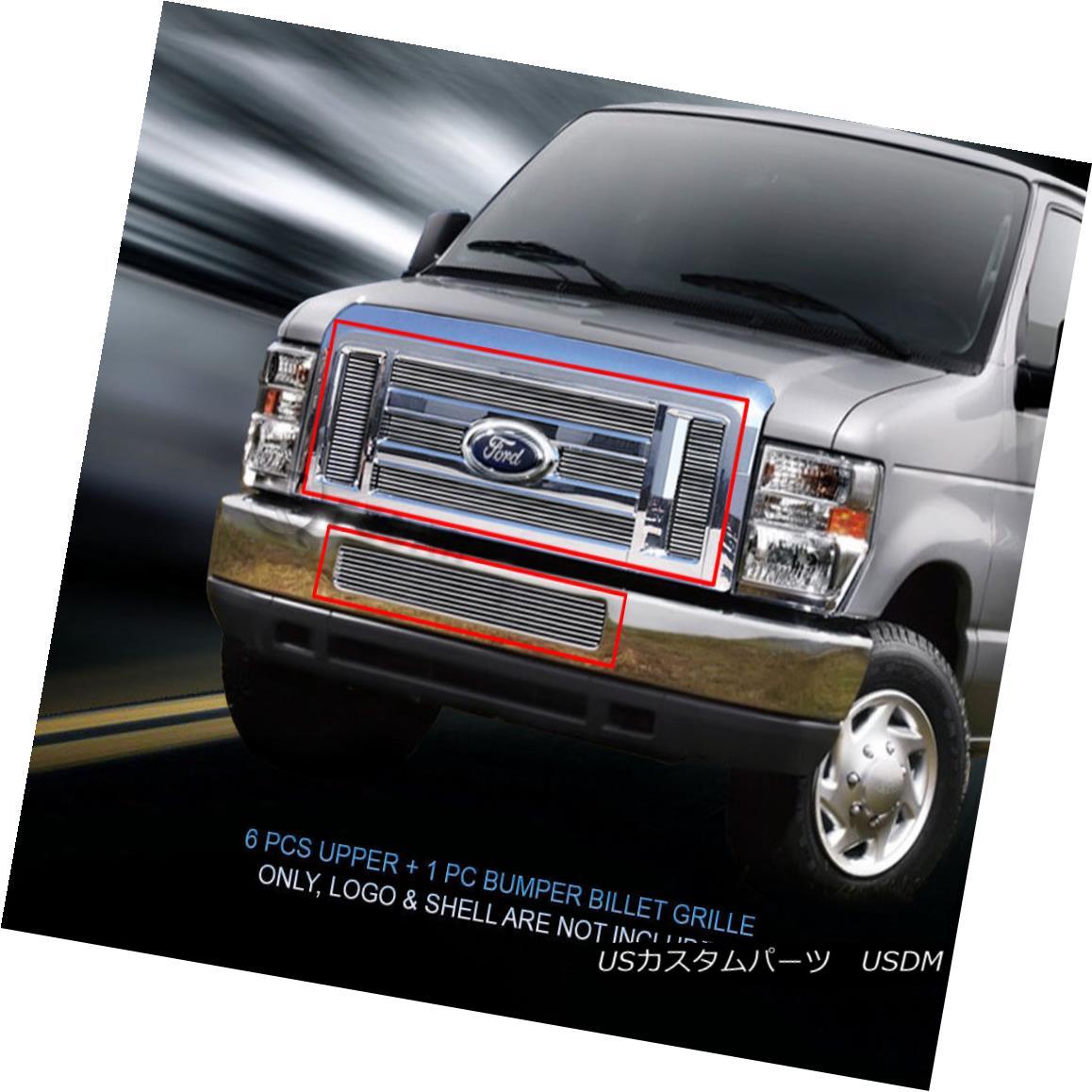 グリル 2008-2014 Ford Econoline Van/E-series Billet Grille COMBO Insert Fedar 2008年?2014年Ford Econoline Van / EシリーズビレットグリルCOMBO Insert Fedar