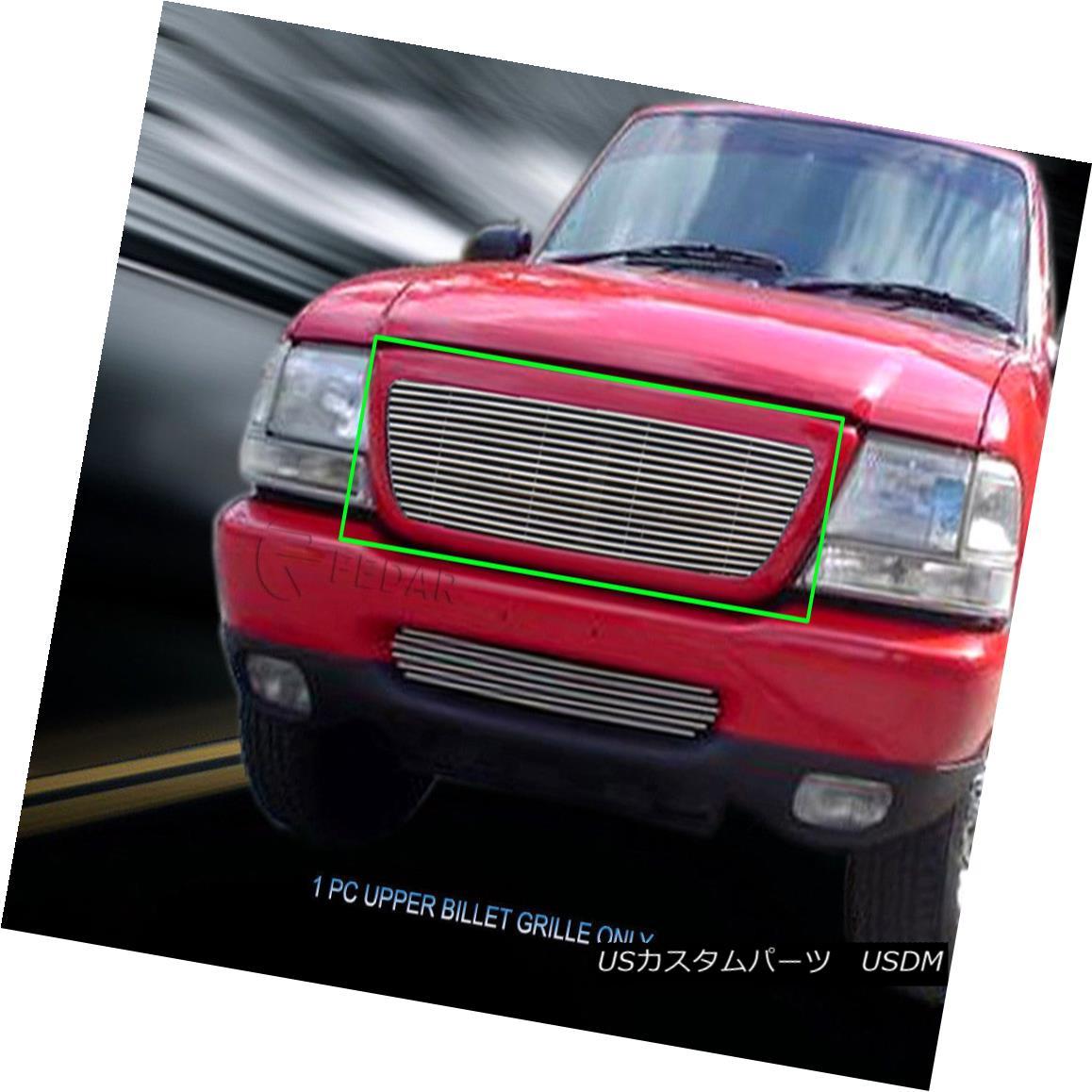 グリル For 1998-2000 Ford Ranger Replacement Billet Grille Upper Grill Insert Fedar 1998-2000フォードレンジャー交換用ビレットグリルアッパーグリルインサートFedar