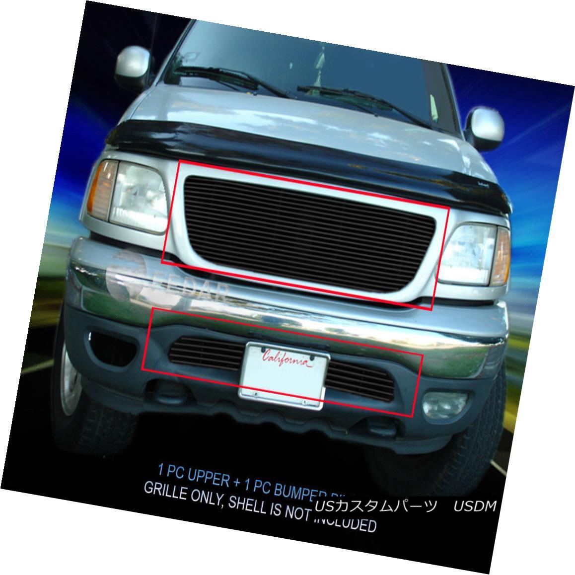 グリル 1999-2003 Ford F-150/Expedition 2WD Black Billet Grille Grill Combo Insert Fedar 1999-2003フォードF-150 / Expediti on 2WDブラックビレットグリルグリルコンボインサートFedar