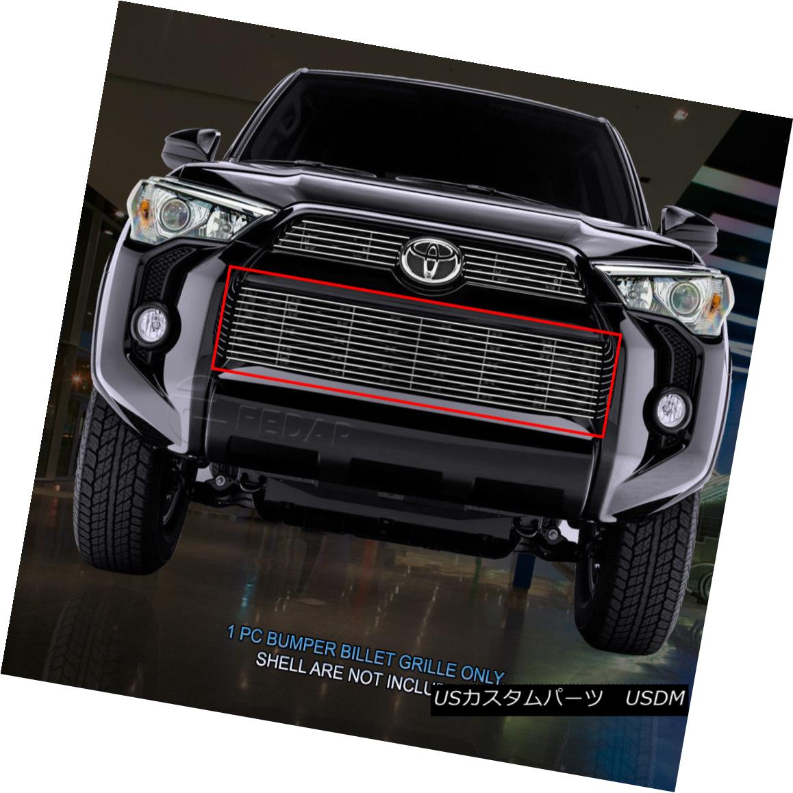 グリル Fedar Fits 2014-2017 Toyota 4Runner Polished Lower Bumper Billet Grille Insert Fedarフィット2014-2017 Toyota 4Runner Polished Lower Bumper Billet Grille Insert