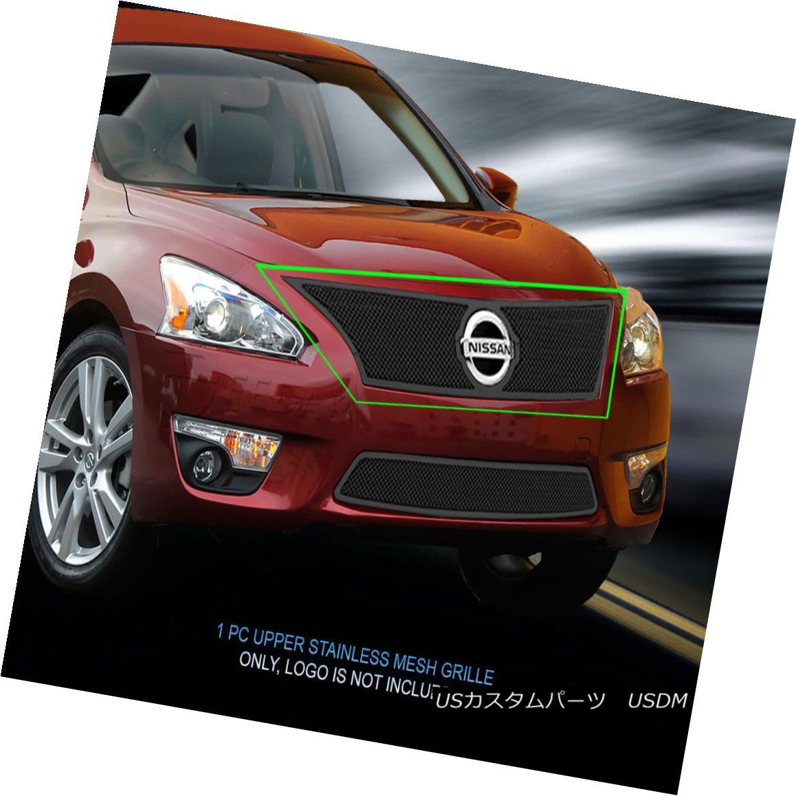 グリル Fedar Fits 2013-2015 Nissan Altima 2.5 S Wire Mesh Grille Combo Insert Fedarは2013-2015 Nissan Altima 2.5 Sワイヤメッシュグリルコンボインサート