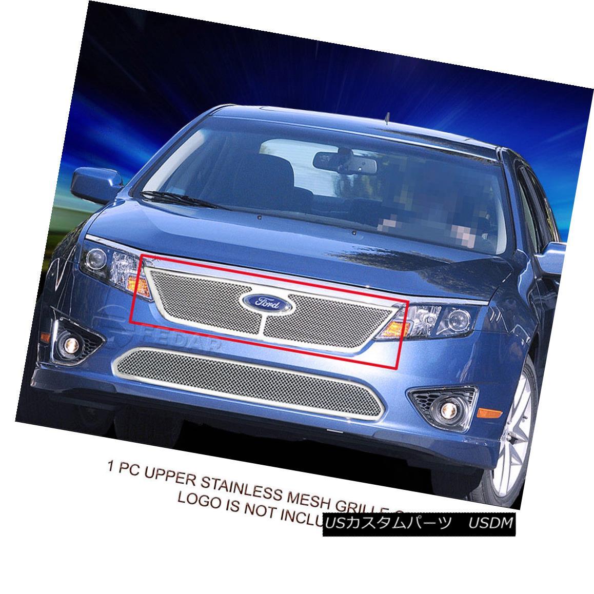 グリル Fedar Fits 2010-2012 Ford Fusion Polished Replacement Formed Mesh Grille Insert Fedarは2010-2012年を適合させるフォード融合研磨された置換されたメッシュグリルインサート
