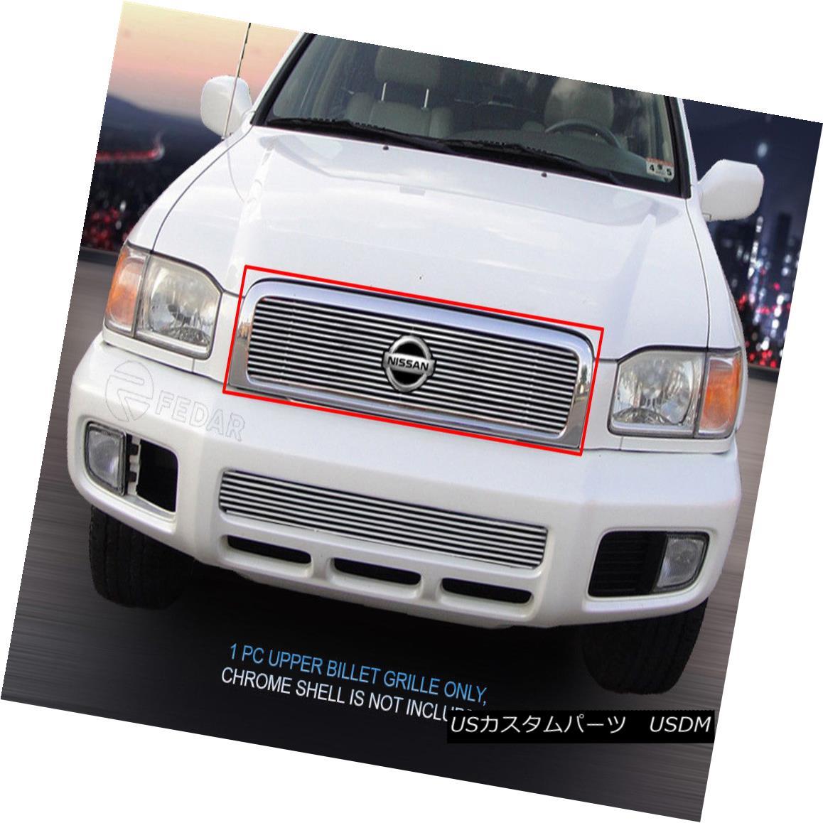 グリル Fits 99-01 Nissan Pathfinder Billet Grille Grill Insert Fedar フィット99-01日産パスファインダービレットグリルグリルインサートFedar