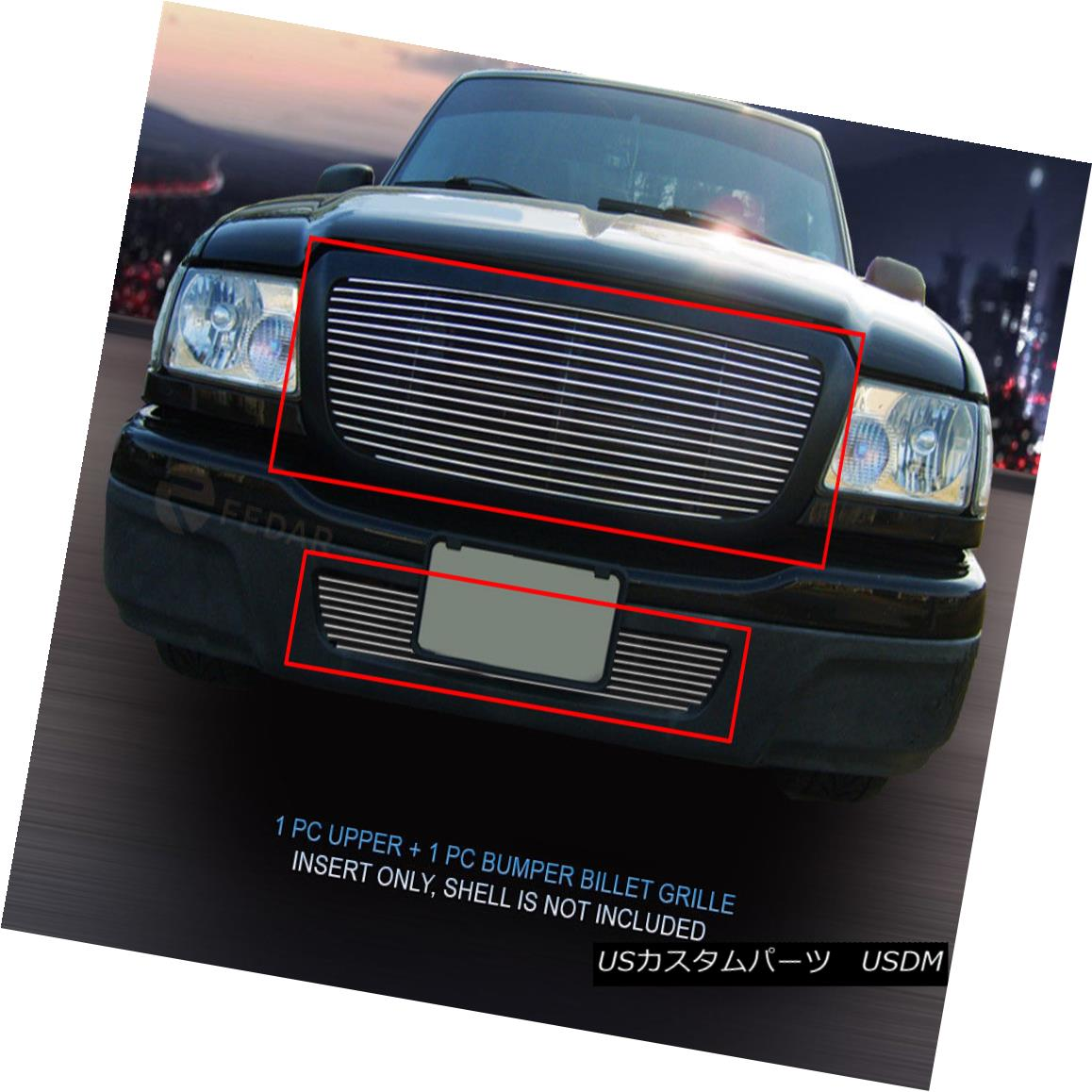 グリル Fedar Fits 2004-2005 Ford Ranger Full Openning Polished Billet Grille Insert Fedar Fitting 2004-2005 Ford Rangerフルオープンポリッシュビレットグリルインサート