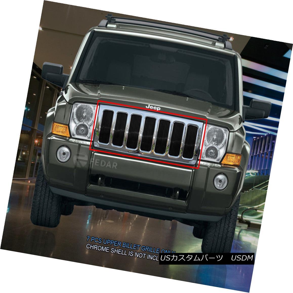 グリル Fedar Fits 2006-2010 Jeep Commander Black Billet Grille Insert Fedarは2006年から2010年までジープ・コマンダー・ブラック・ビレット・グリル・インサート