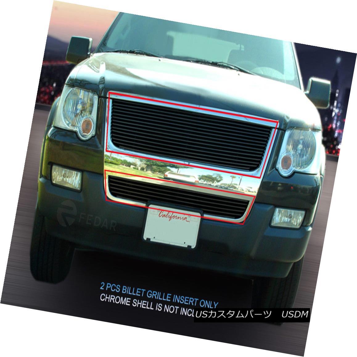 グリル 06-07 2007 Ford Explorer Black Billet Grille Grill Combo 2006 Fedar 06-07 2007フォードエクスプローラーブラックビレットグリルグリルコンボ2006 Fedar