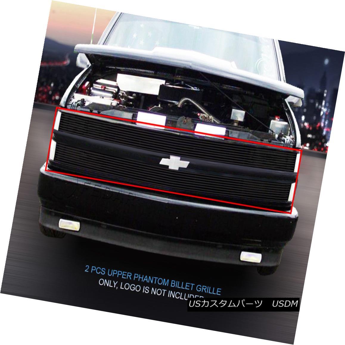 グリル 94-99 Chevy Suburban Blazer Tahoe C/K Pickup Black Phantom Grille Insert Fedar 94-99シボレー郊外ブレザータホC / Kピックアップブラックファントムグリルインサートフェルダー
