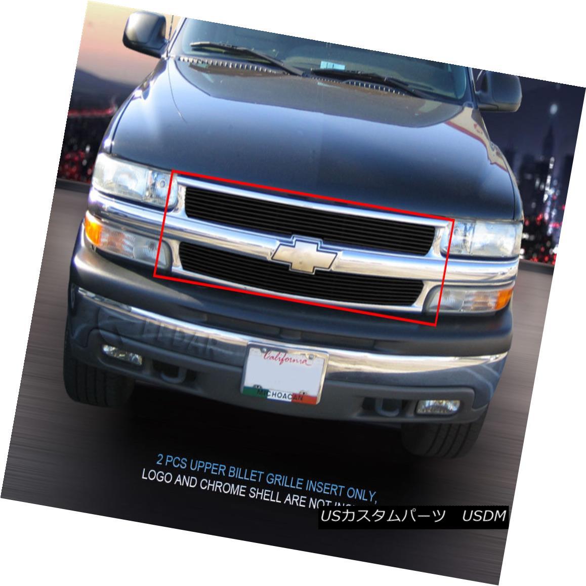 グリル 99-02 Chevy Silverado 00-06 Suburban Tahoe Black Billet Grille Grill Fedar 99-02シボレーシルバラード00-06郊外のタホブラックビレットグリルグリルフェルダー