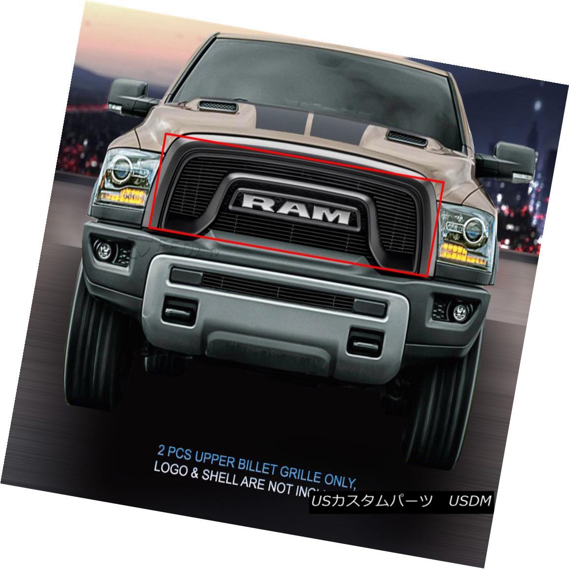 グリル Fedar Fits 2015-2017 Dodge RAM Rebel 1500 Black Billet Grille Insert Fedarフィット2015-2017ドッジRAM Rebel 1500ブラックビレットグリルインサート