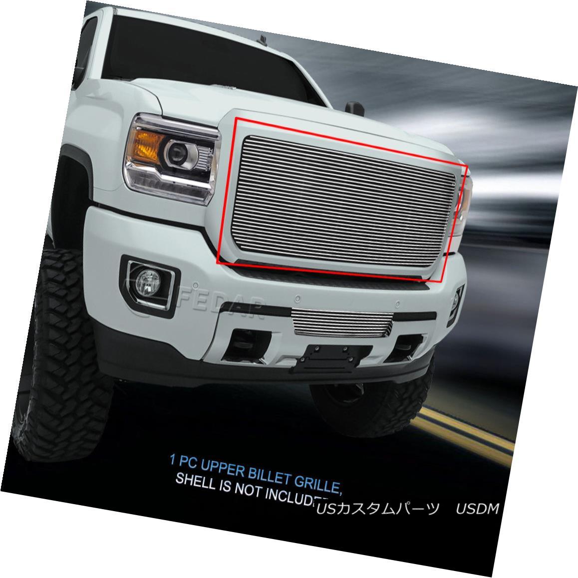 グリル Fedar Fits 2015-2017 GMC Sierra 2500HD/3500HD Chrome BoltOn Upper Billet Grille Fedarフィット2015-2017 GMC Sierra 2500HD / 3500HDクロムBoltOnアッパービレットグリル