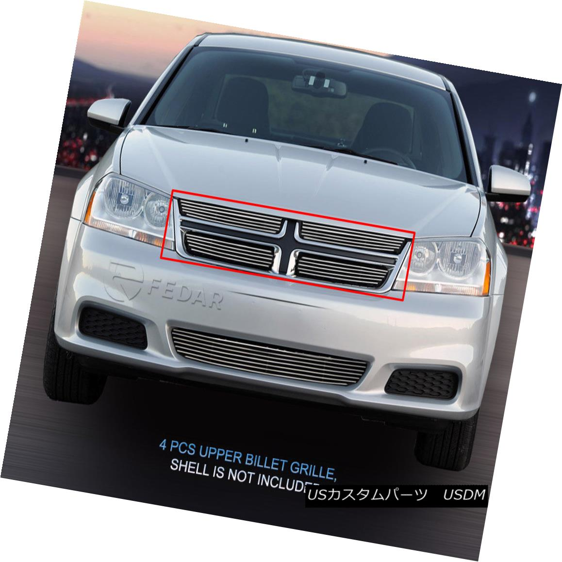 グリル Fedar Fits 2011-2014 Dodge Avenger Polished Billet Grille Insert Fedarは2011-2014 Dodge Avenger Polished Billet Grilleインサートを適合