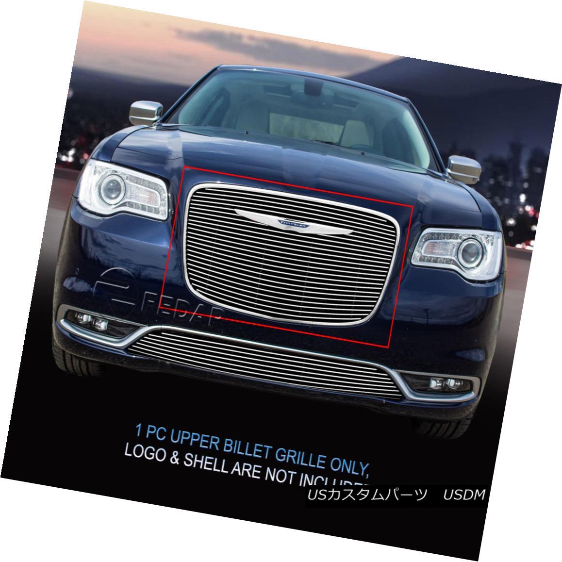 グリル Fedar Fits 2015-2016 Chrysler 300 Polished Overlay Upper Billet Grille Insert Fedarフィット2015-2016 Chrysler 300研磨オーバーレイアッパービレットグリルインサート