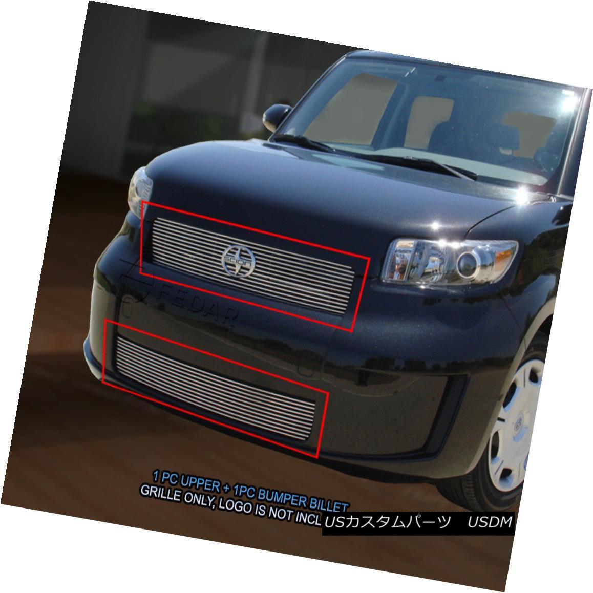 グリル Fedar Fits 2008-2010 Scion XB Polished Billet Grille Combo Fedar Fitting 2008-2010 Scion XBポリッシュビレットグリルコンボ