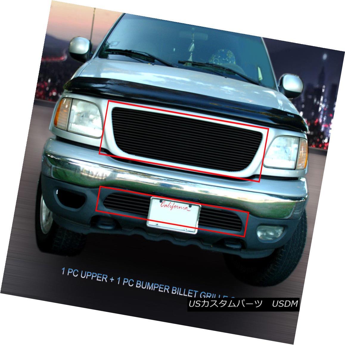 グリル Fedar Fits 1999-2003 Ford F-150 2WD Black Billet Grille Insert Fedarは1999-2003 Ford F-150 2WD Black Billet Grille Insertに適合します