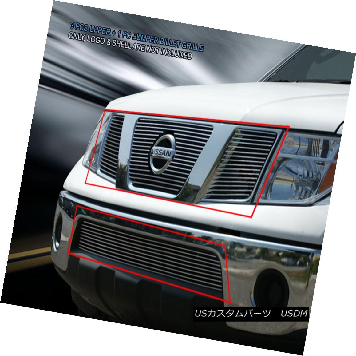 グリル Fits 05-08 Nissan Pathfinder Frontier Billet Grille Grill Combo Insert Fedar フィット05-08日産パスファインダーフロンティアビレットグリルグリルコンボインサートFedar