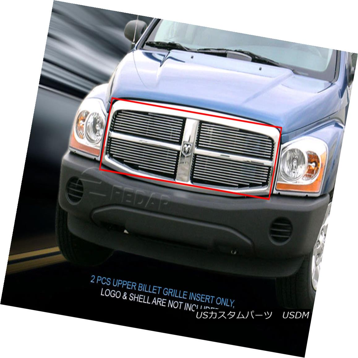 グリル For 2004-2006 Dodge Durango Billet Grille 4 Pieces Upper Grill Insert Fedar 2004-2006 Dodge Durango Billet Grille 4個アッパーグリルインサートFedar