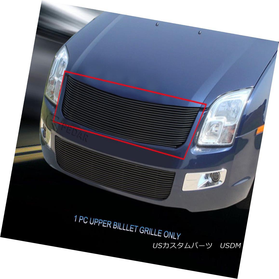 グリル For 06-09 Ford Fusion Black Billet Grille Main Upper Grill Insert Fedar 06-09フォードフュージョンブラックビレットグリルメインアッパーグリルインサートフェルダー