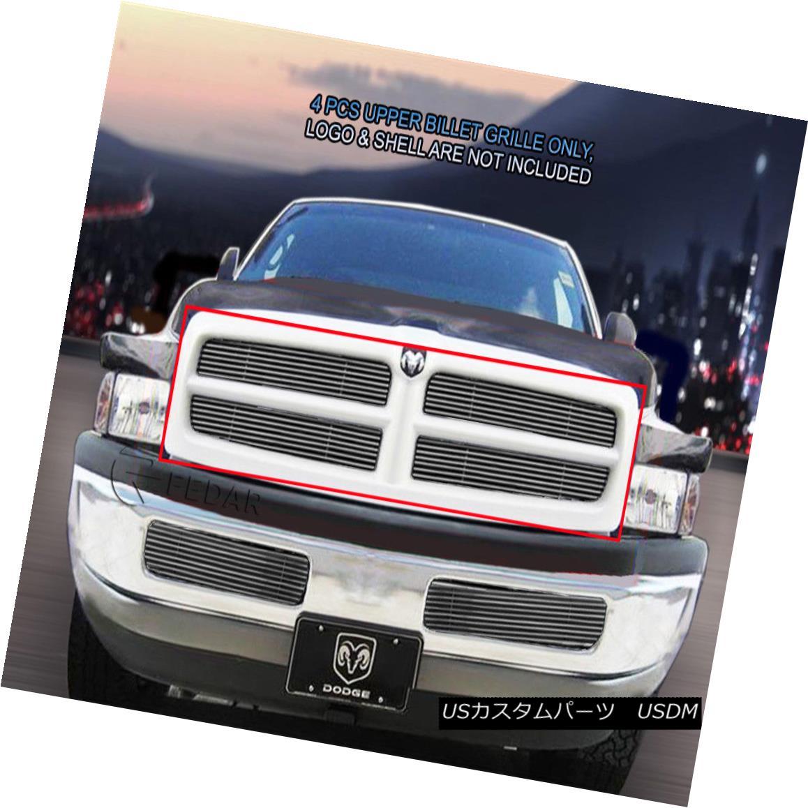 グリル Fedar Fits 1999-2001 Dodge Ram Sport Polished Main Upper Billet Grille Fedarは1999-2001 Dodge Ram Sportに適合します。研磨されたメインアッパービレットグリル