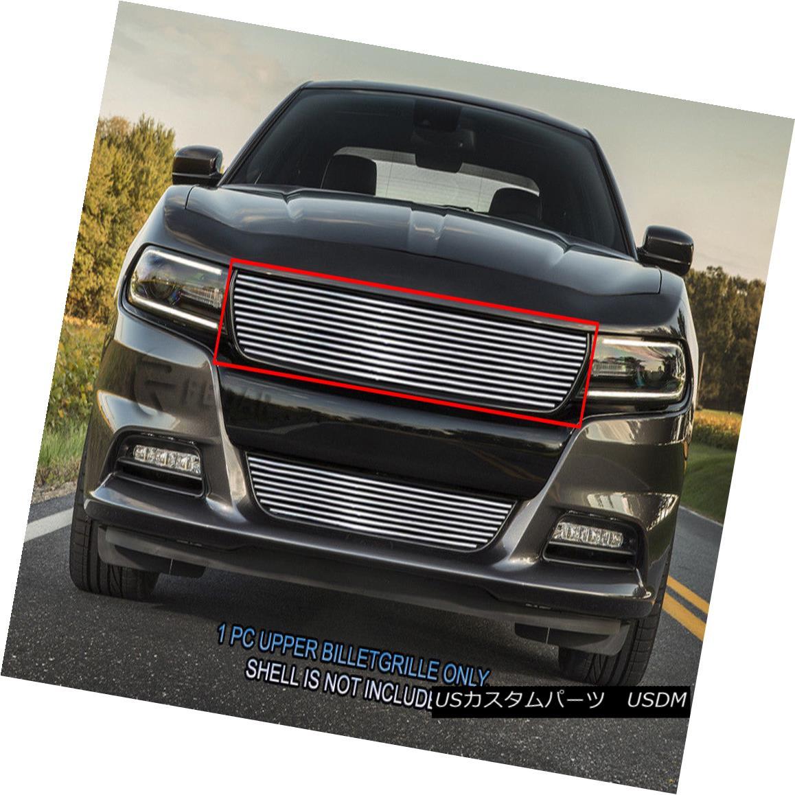 グリル Fedar Fits 2015-2017 Dodge Charger Polished Billet Grille Insert Fedarフィット2015-2017ダッジチャージャーポリッシュビレットグリルインサート