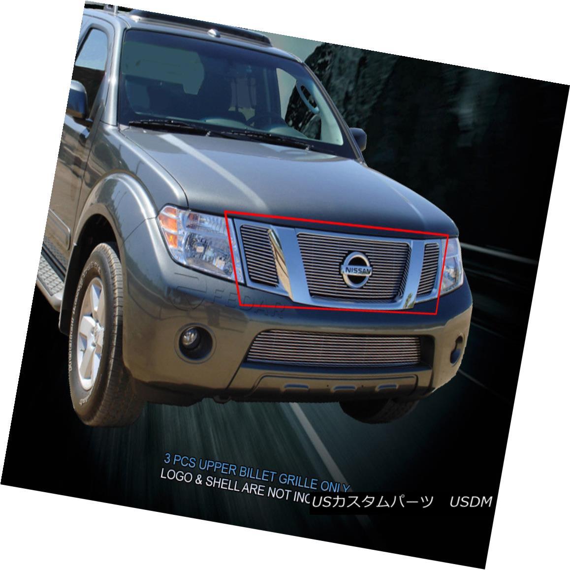 グリル Fits 08-12 Nissan Pathfinder Billet Grille Grill Upper Insert Fedar フィット08-12日産パスファインダービレットグリルグリルアッパーインサートフェルダー