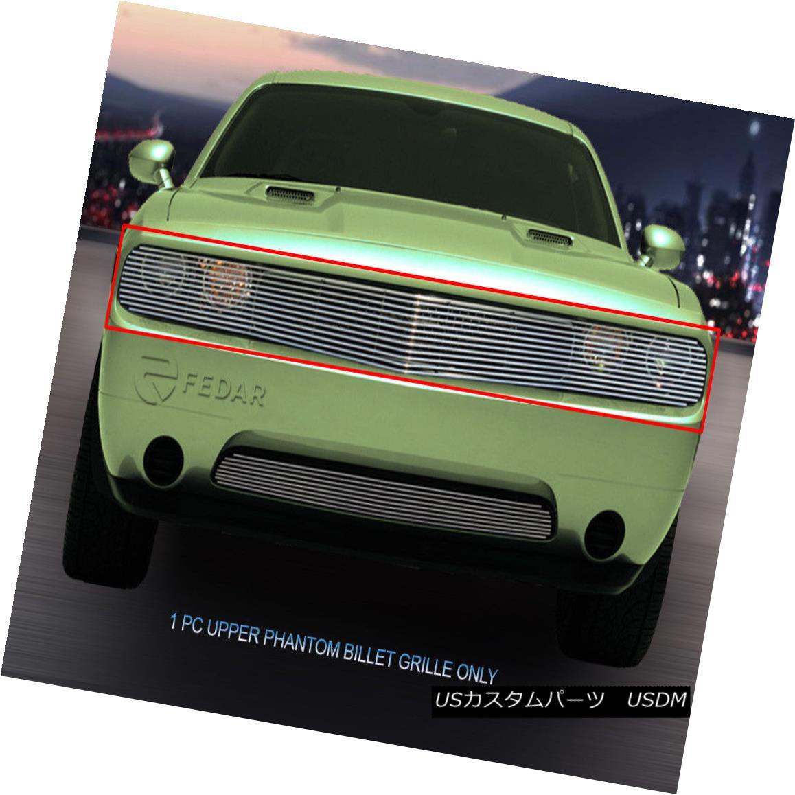 グリル 09-14 Dodge Challenger Phantom Billet Grille Grill Insert Fedar 09-14ダッジチャレンジャーファントムビレットグリルグリルインサートFedar