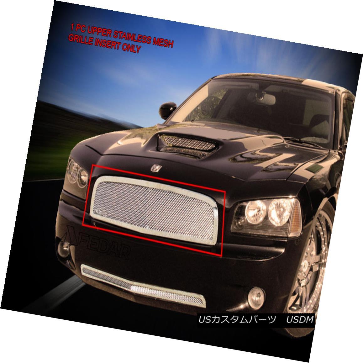 グリル 05-10 Dodge Charger Stainless Steel Mesh Grille Upper Grill Insert Fedar 05-10ダッジチャージャーステンレスメッシュグリルアッパーグリルインサートフェルダー
