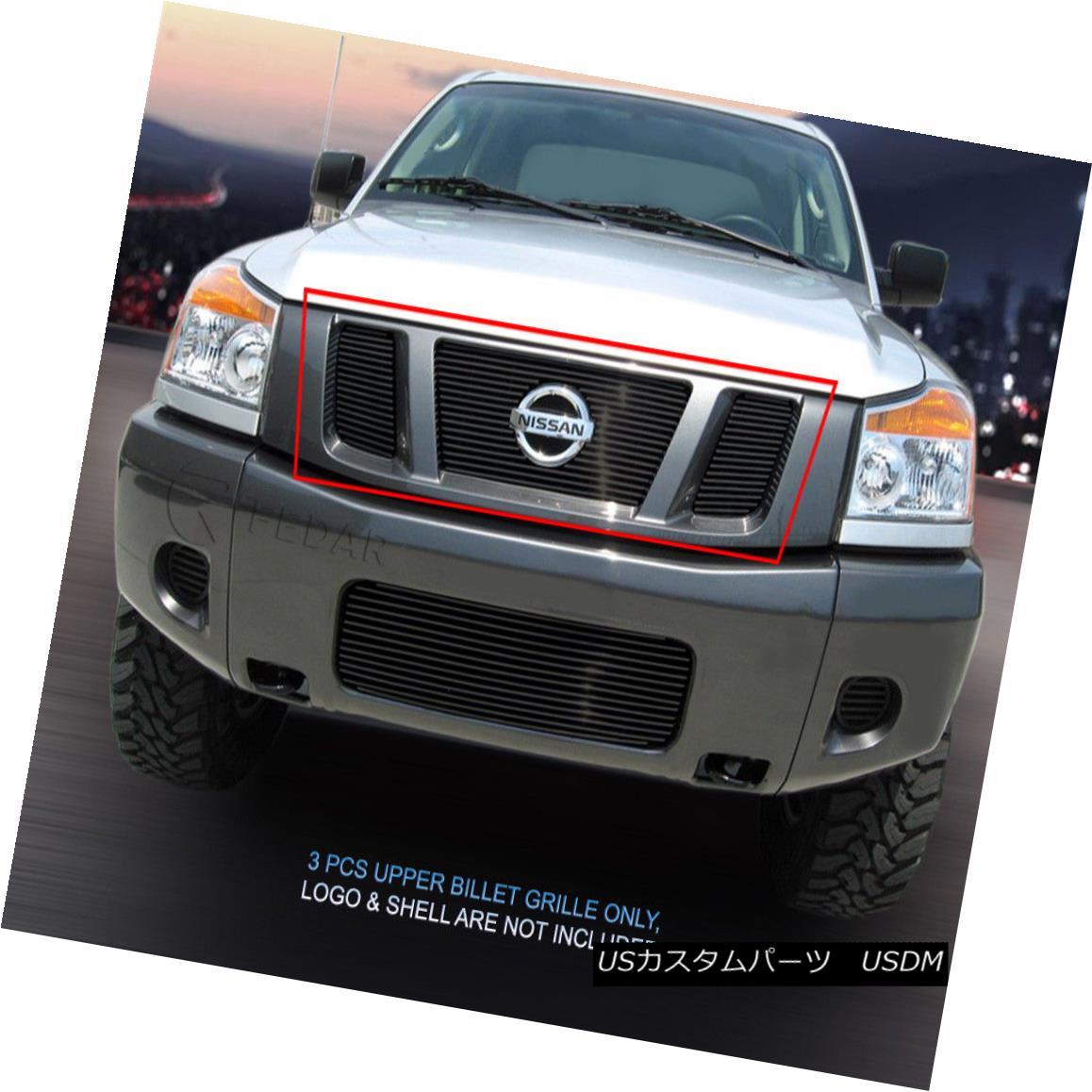 グリル Fedar Fits 2008-2015 Nissan Titan Black Main Upper Billet Grille Fedar Fits 2008-2015 Nissan Titan Blackメインアッパービレットグリル