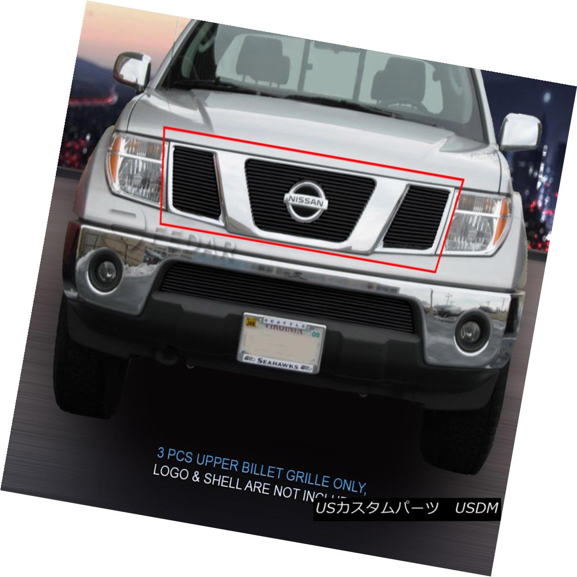 グリル Fits 2009-2014 Nissan Frontier Black Billet Grille Main Upper Grill Insert Fedar 2009年?2014年の日産フロンティアブラックビレットグリルメインアッパーグリルインサートFedar