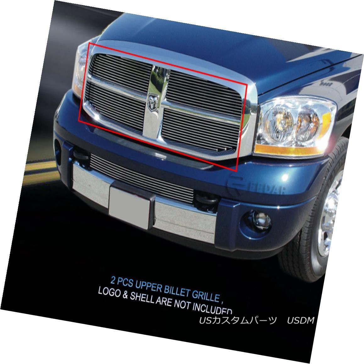 グリル Fedar Fits 2006-2009 Dodge Ram Pick Up Polished Main Upper Billet Grille Fedarは2006-2009年のドッジ・ラムにフィットします。研磨されたメイン・アッパー・ビレット・グリル