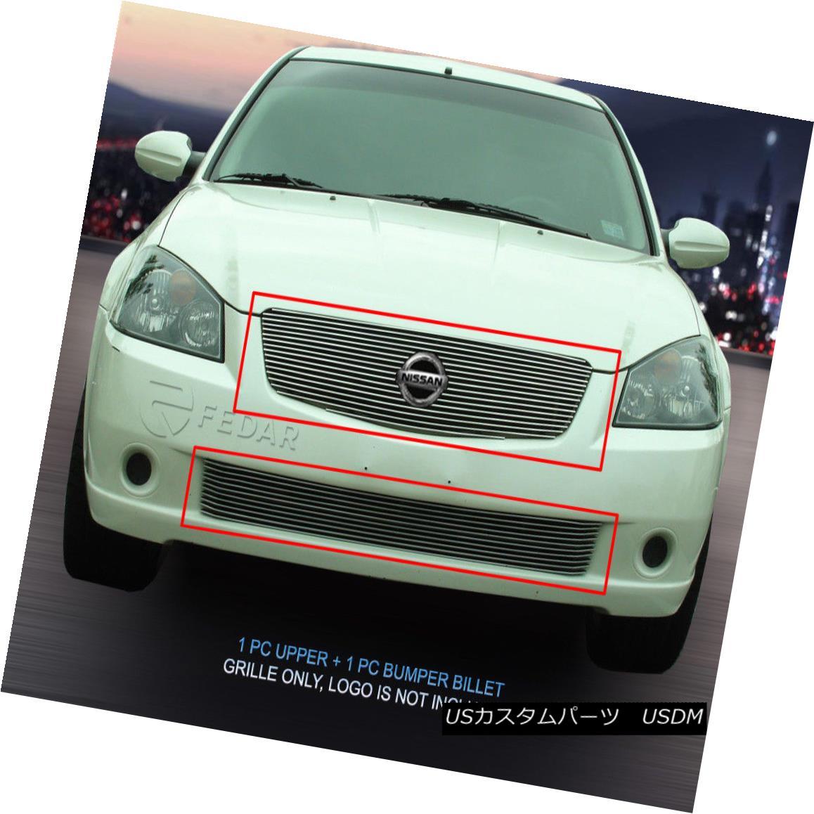 グリル Fits 05 06 Nissan Altima Billet Grille Grill Combo Insert Fedar フィッツ05 06日産アルティマビレットグリルグリルコンボインサートフェルダ