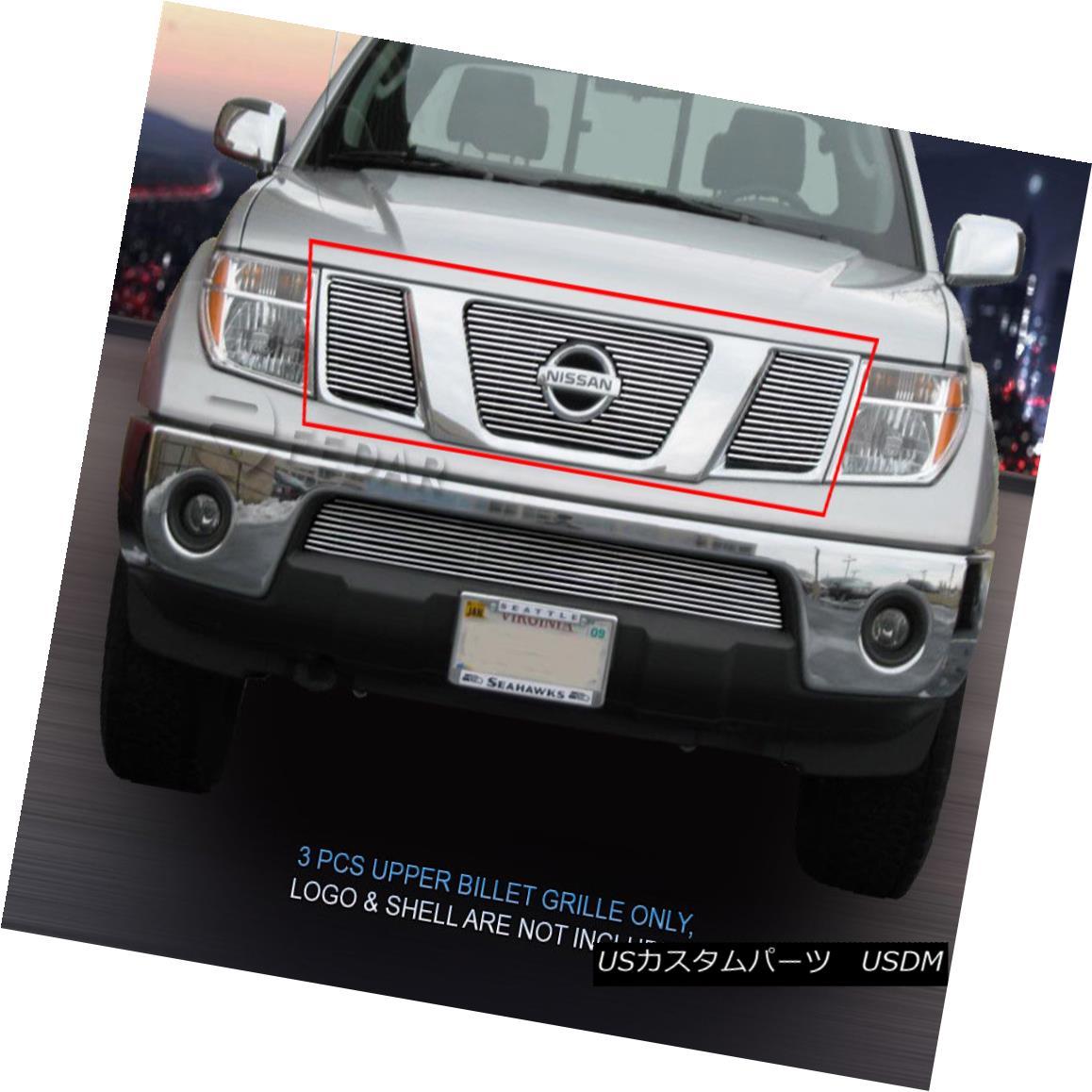 グリル Fits 2009-2014 Nissan Frontier Billet Grille Main Upper Grill Insert Fedar 2009年?2014年の日産フロンティアビレットグリルメインアッパーグリルインサートFedar