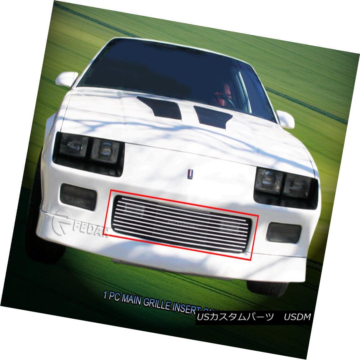 グリル Fits 1982 83 84 85 86 1987 Chevy Camaro Z28 Billet Grille Bumper Insert Fedar 適合1982 83 84 85 86 1987シボレーカマロZ28ビレットグリルバンパーインサートFedar