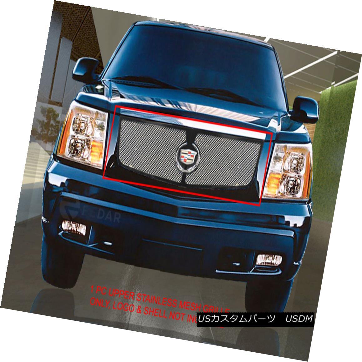 グリル Fedar Fits 02-06 Cadillac Escalade Chrome Replacement Wire Mesh Grille Insert Fedar Fits 02-06 Cadillac Escaladeクロム交換用ワイヤーメッシュグリルインサート