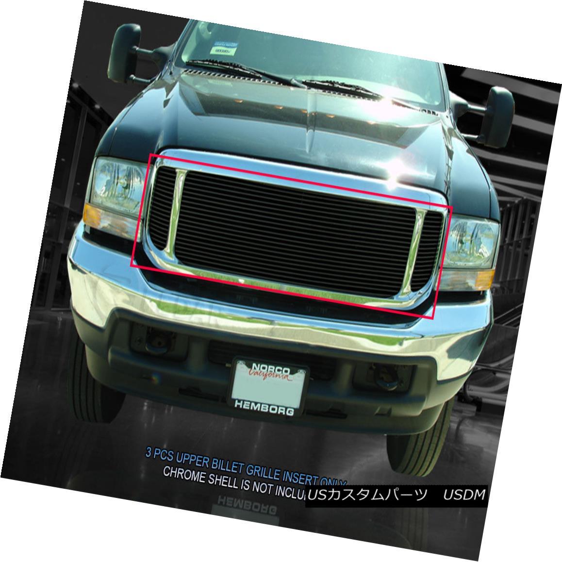 グリル Fedar Fits 99-04 Ford Excursion F250 F350 F450 F550 Black Billet Grille Grill Feder Fits 99-04 FordエクスカーションF250 F350 F450 F550 Black Billet Grille Grill