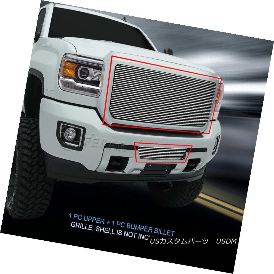 グリル Fits 2015-2017 GMC Sierra 2500HD/3500HD Billet Grille Combo Grill Insert Fedar フィット2015-2017 GMC Sierra 2500HD / 3500HDビレットグリルコンボグリルインサートフェルダー