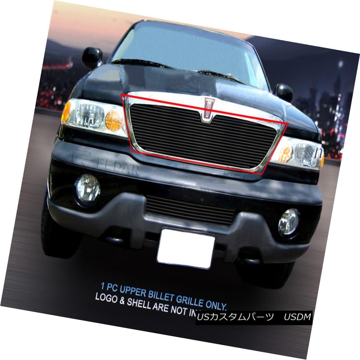 グリル 98-02 Lincoln Navigator Black Billet Grille Grill Upper Insert Fedar 98-02リンカーンナビゲーターブラックビレットグリルグリルアッパーインサートフェルダー