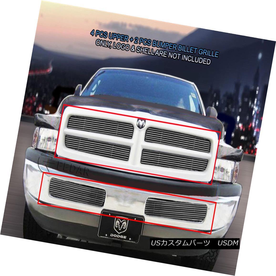 グリル 99-01 Dodge Ram Sport Billet Grille Grill Combo Insert 6 Pcs Fedar 99-01ダッジラムスポーツビレットグリルグリルコンボインサート6個入りFedar