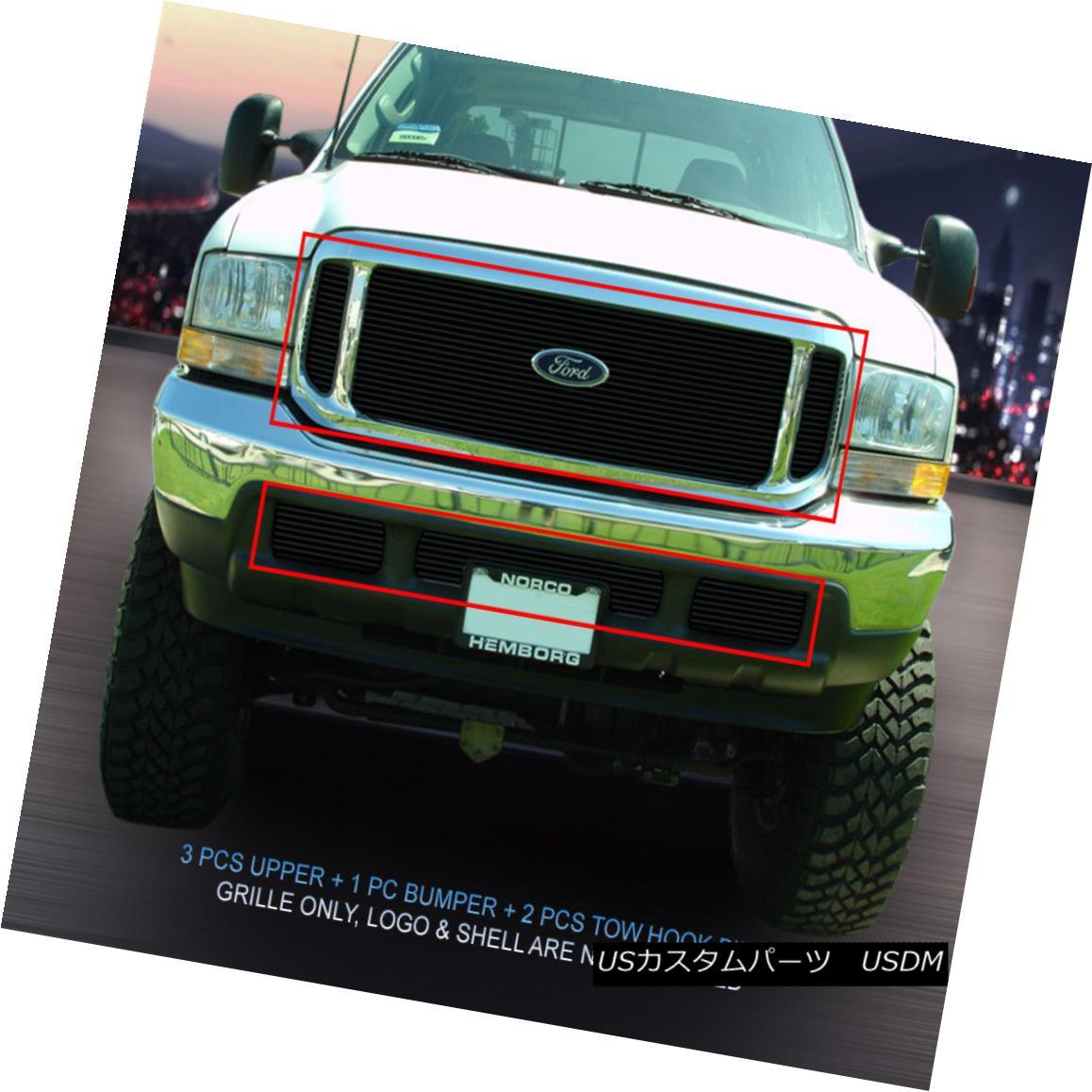 グリル 99-04 Ford F-250/F-350/F-450/F-550 Black Billet Grille Grill Combo Insert Fedar 99-04フォードF-250 / F-350 / F- 450 / F-550ブラックビレットグリルグリルコンボインサートFedar