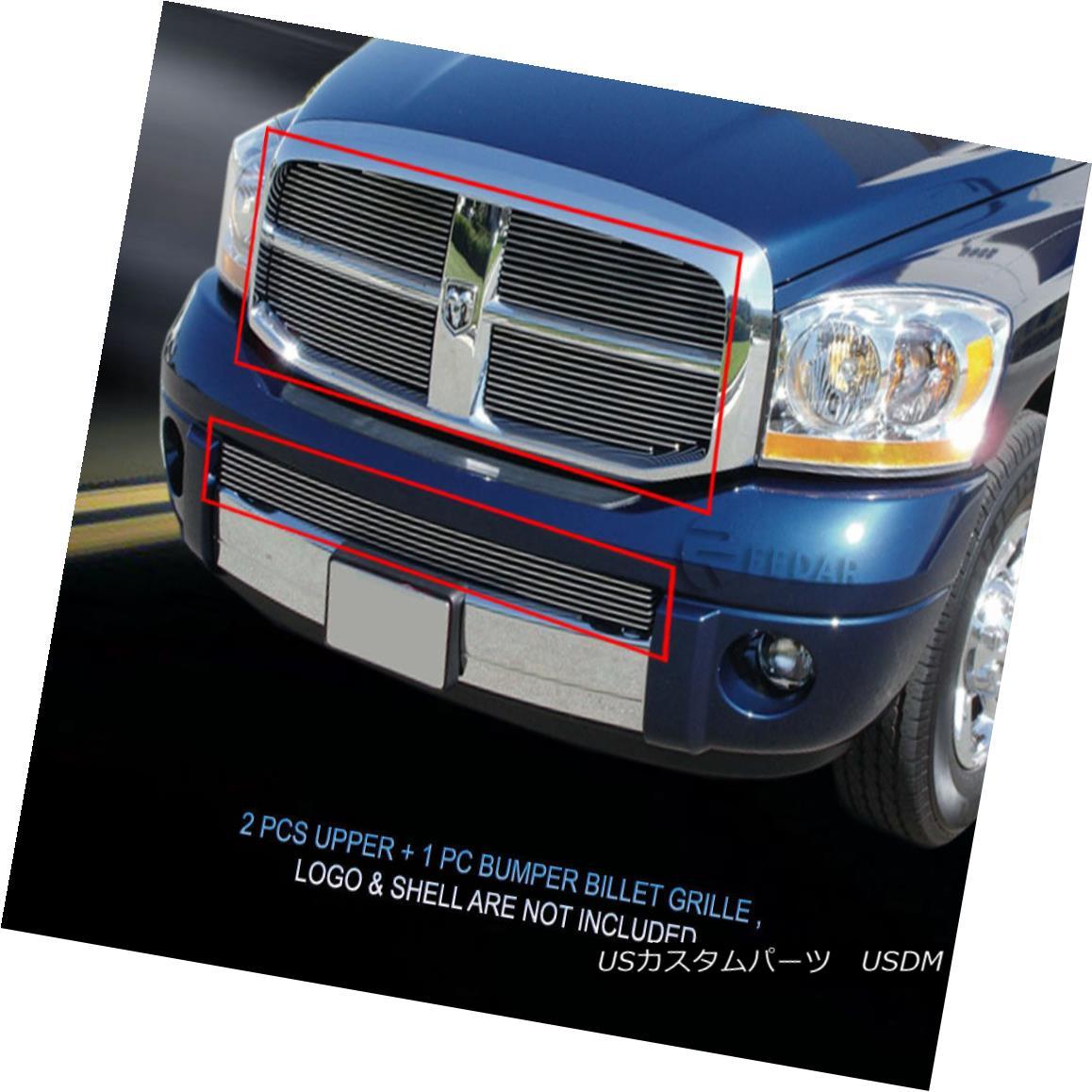 グリル 06 07 08 Dodge Ram 1500 Billet Grille COMBO Grill Insert Fedar 06 07 08ダッジラム1500ビレットグリルコンボグリルインサートフェルダ