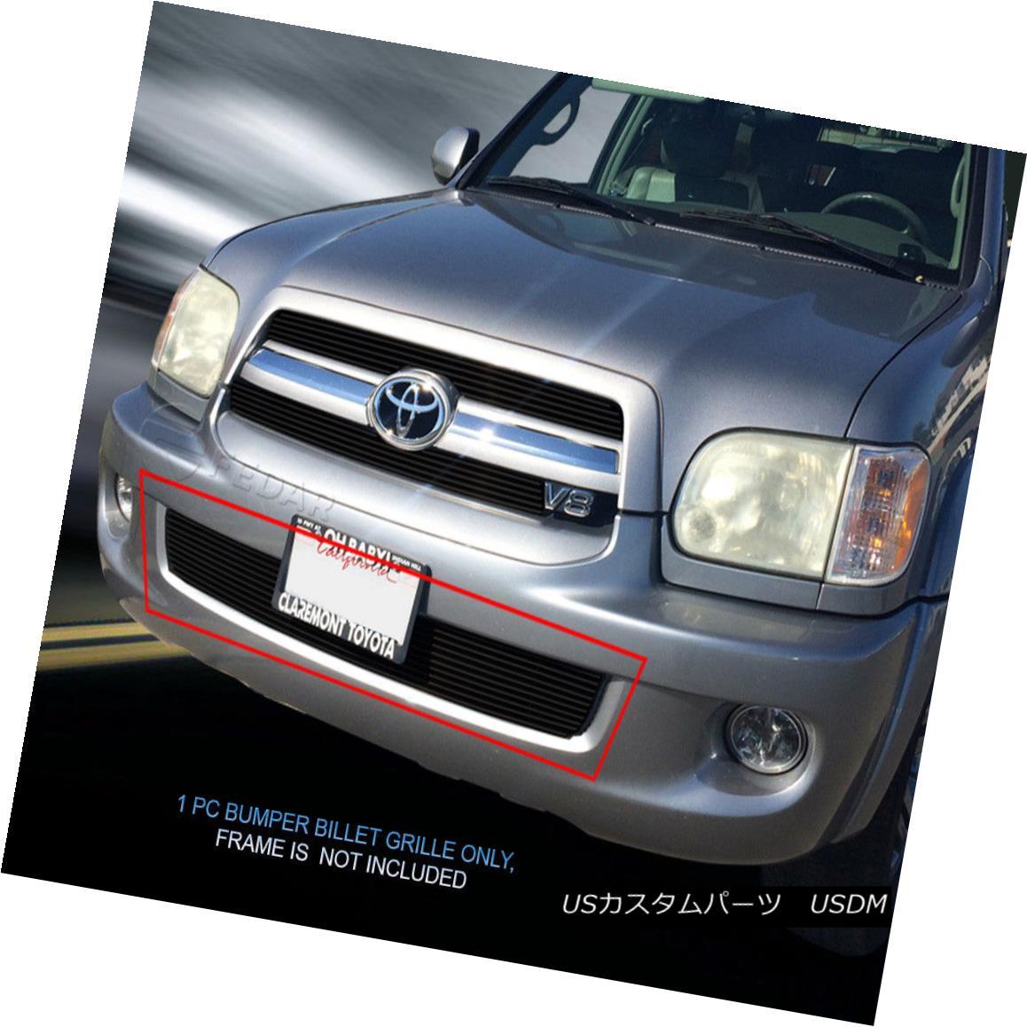 グリル For 05 06 07 Toyota Sequoia Black Billet Grille Grill Bumper Insert Fedar 05 06 07トヨタセコイアブラックビレットグリルグリルバンパーインサートFedar