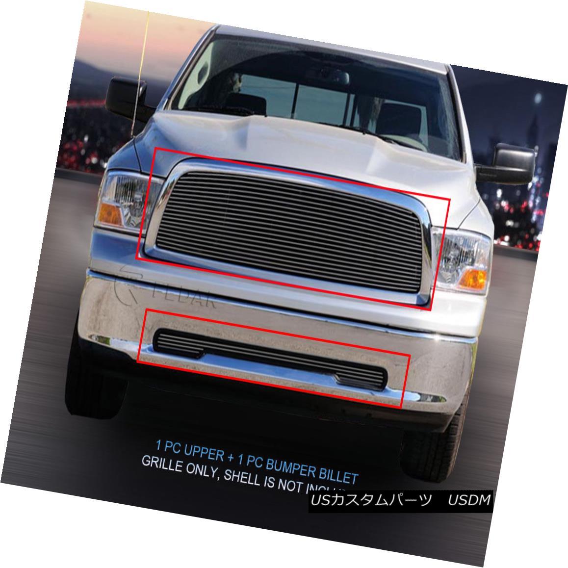 グリル Fedar Fits 2009-2012 Dodge Ram 1500 PU Polished Billet Grille Combo Fedarフィット2009-2012ダッジラム1500 PUポリッシュビレットグリルコンボ