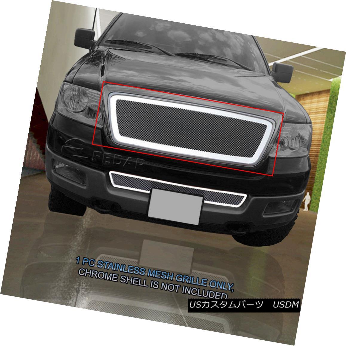 グリル Fits 2004-2008 Ford F-150 Honeycomb Style Main Upper Stainless Mesh Grille Fedar フィット2004-2008フォードF - 150ハニカムスタイルメインアッパーステンレスメッシュグリルフェルダー