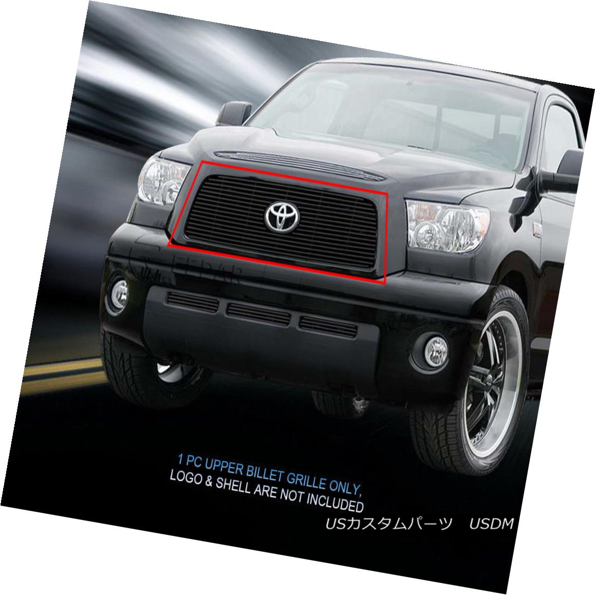 グリル Fedar Fits 2007-2009 Toyota Tundra Black Main Upper Logo Show Billet Grille Fedarは2007-2009年に合うToyota Tundra BlackメインアッパーロゴショーBillet Grille